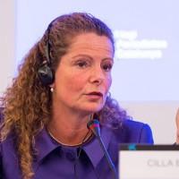 La periodista sueca Cilla Benkö durant la seva estada a Barcelona