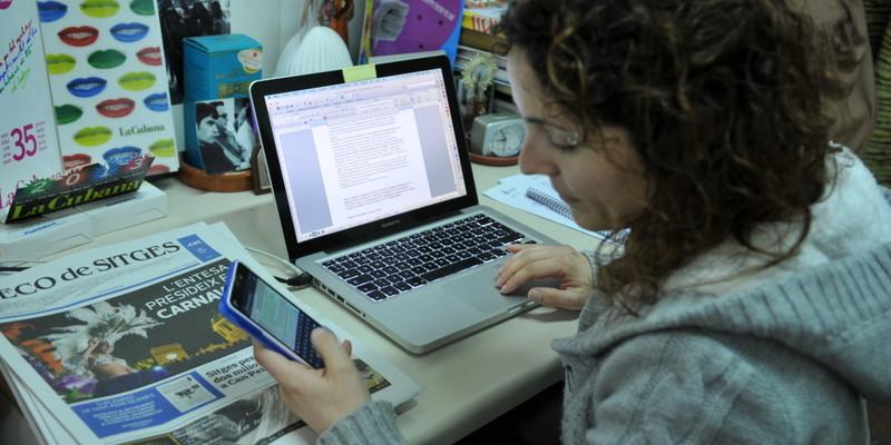Tant la redacció com els responsables dels mitjans viuen pendents de l'audiència, més encara en l'online | Foto: José Luís Gómez Galarzo