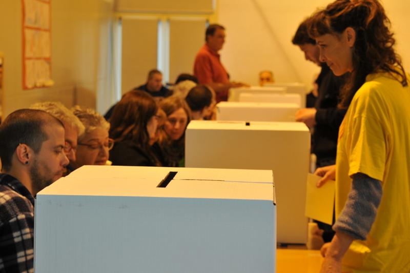 Imatge d'un dels centenars d'instituts públics on es va votar la consulta del 9N | Foto: José Luís Gómez Galarzo