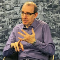Antoni Bassas durant l'entrevista amb Report.cat