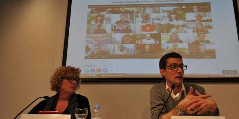 Presentació de la iniciativa del Col·legi de Periodistes respecte els blocs electorals