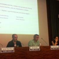 Els quatre ponents de la taula rodona, durant el torn de preguntes   Foto: Adrián Caballero