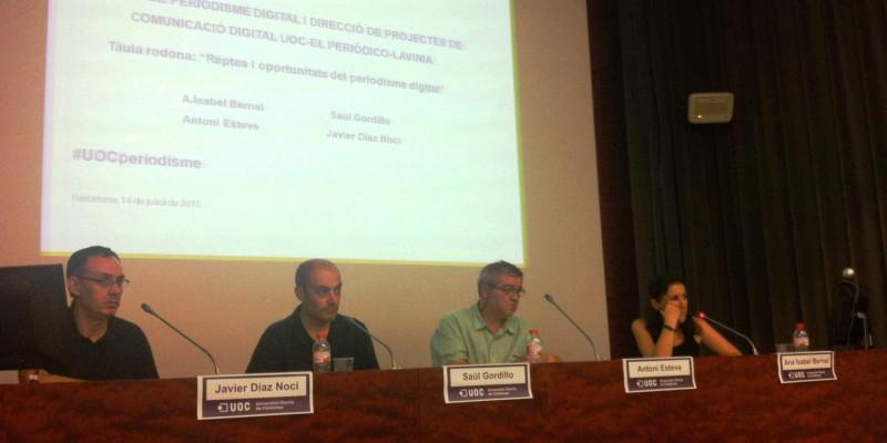 Els quatre ponents de la taula rodona, durant el torn de preguntes | Foto: Adrián Caballero