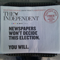 The Independent print edition cease
