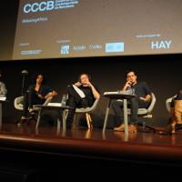 D'esquerra a dreta; Xavier Aldekoa, Tania Adam, Pere Ortín, Samuel Aranda i Gemma Parellada. Foto José Luís Gómez Galarzo