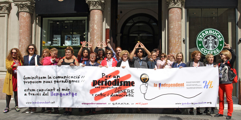 Concentració trobada internacional periodisme gènere