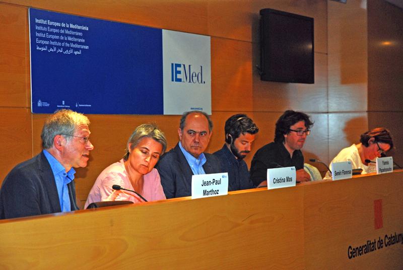 Els ponents de la jornada que va organitzar l'Institut Europeu de la Mediterrània. Foto: IEMed.