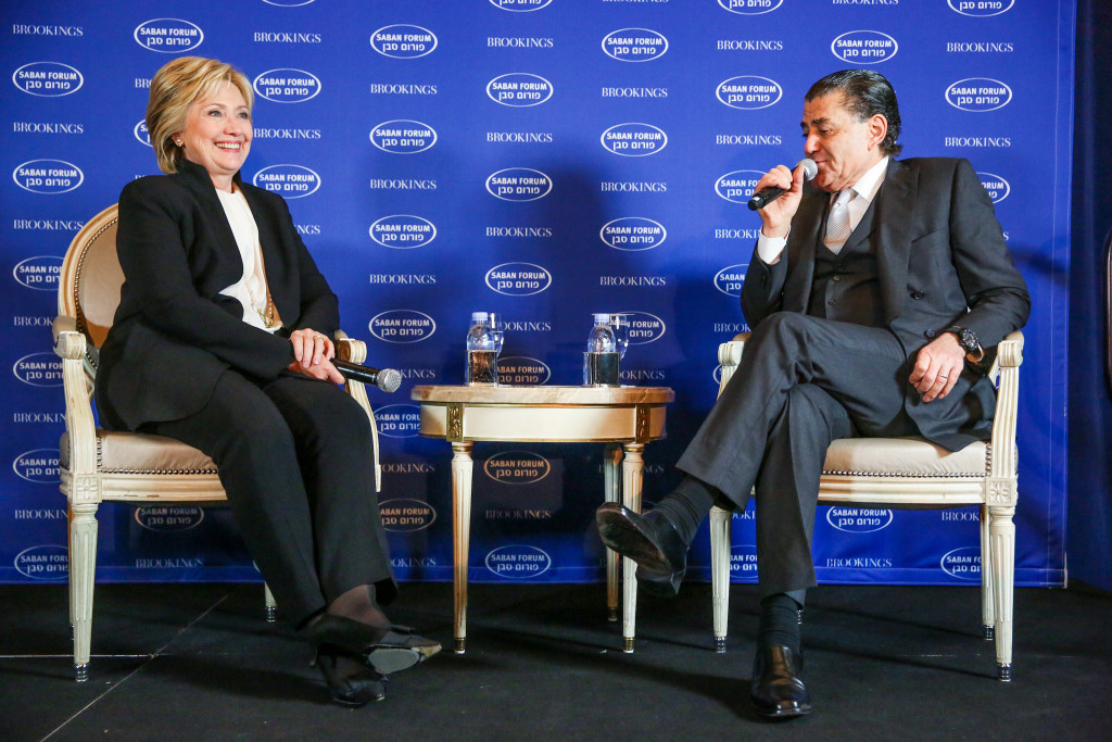 Hillary Clinton en una entrevista a la Brooking Institution. Foto: Brooking Institution