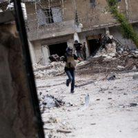 Maysun enmig del conflicte a Síria. Foto: Arxiu Maysun