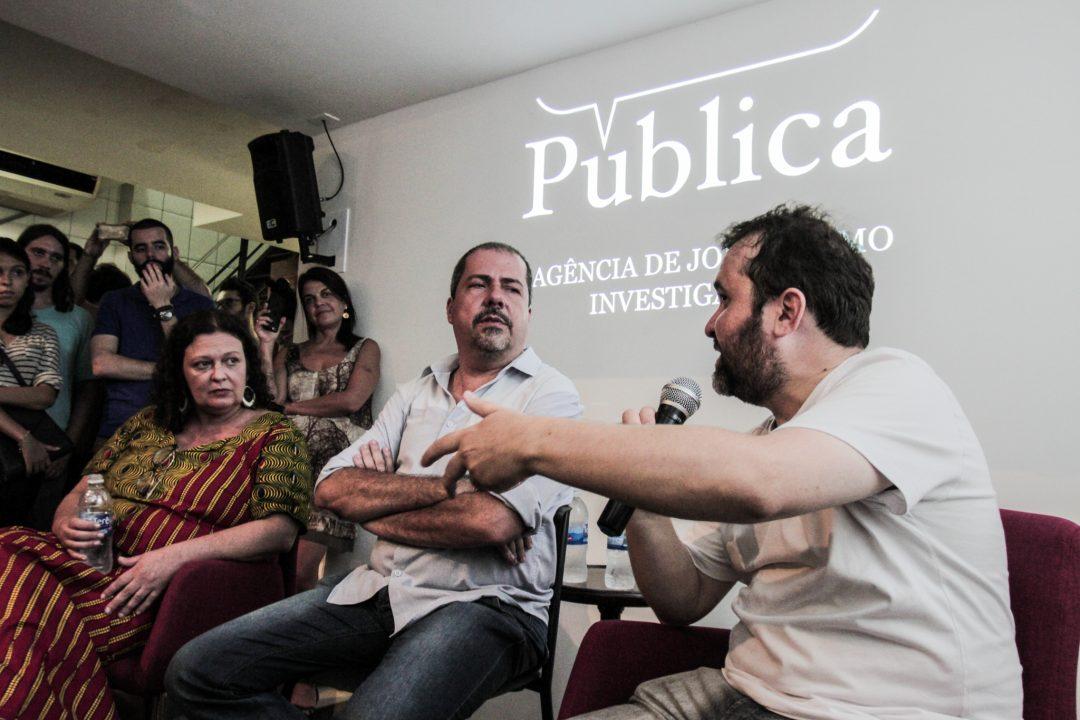 El debat sobre Lava Jato moderat per Marina Amaral, diretora de la Agência Pública i els periodistes Chico Otavio (O Globo) i Rubens Valente (Folha de S. Paulo) va donar el tret de sortida de les 'Converses Públiques' | Foto: José Cicero da Sivla