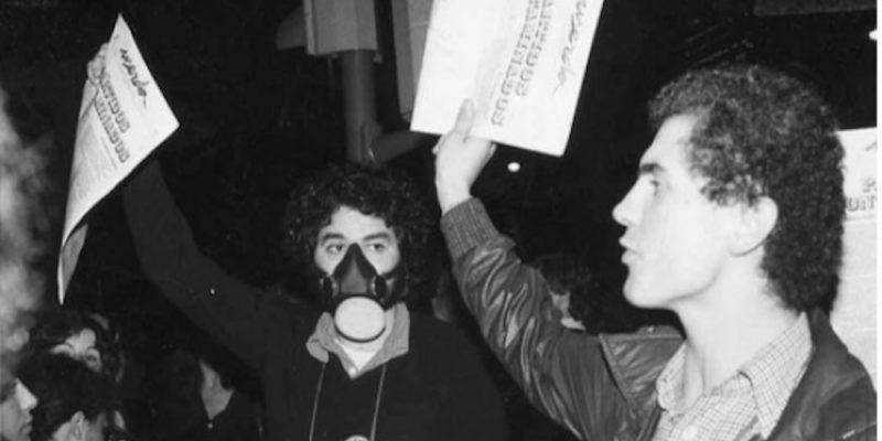 Santiago i Jordi Vilanova venent el número zero d'Userda | Foto: Arxiu particular de Santiago Vilanova