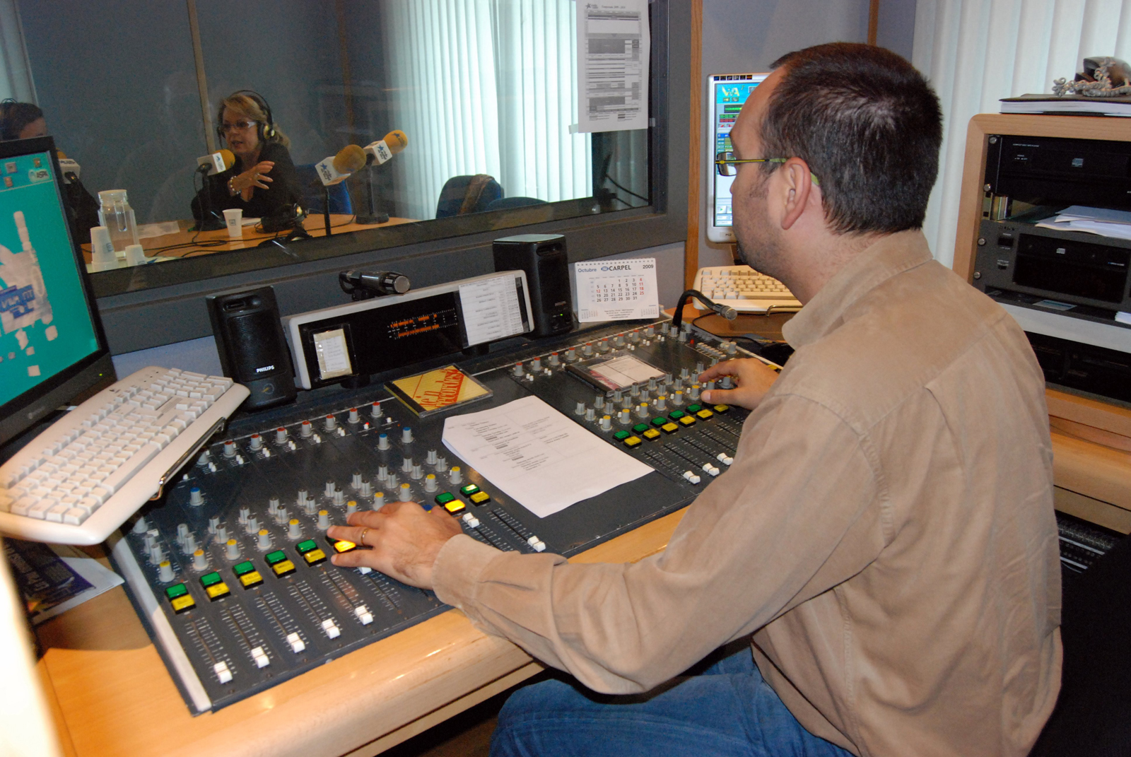 L'estudi 1 d'aquesta emissora d'inspiració cristiana, que actualment té 22.000 oients