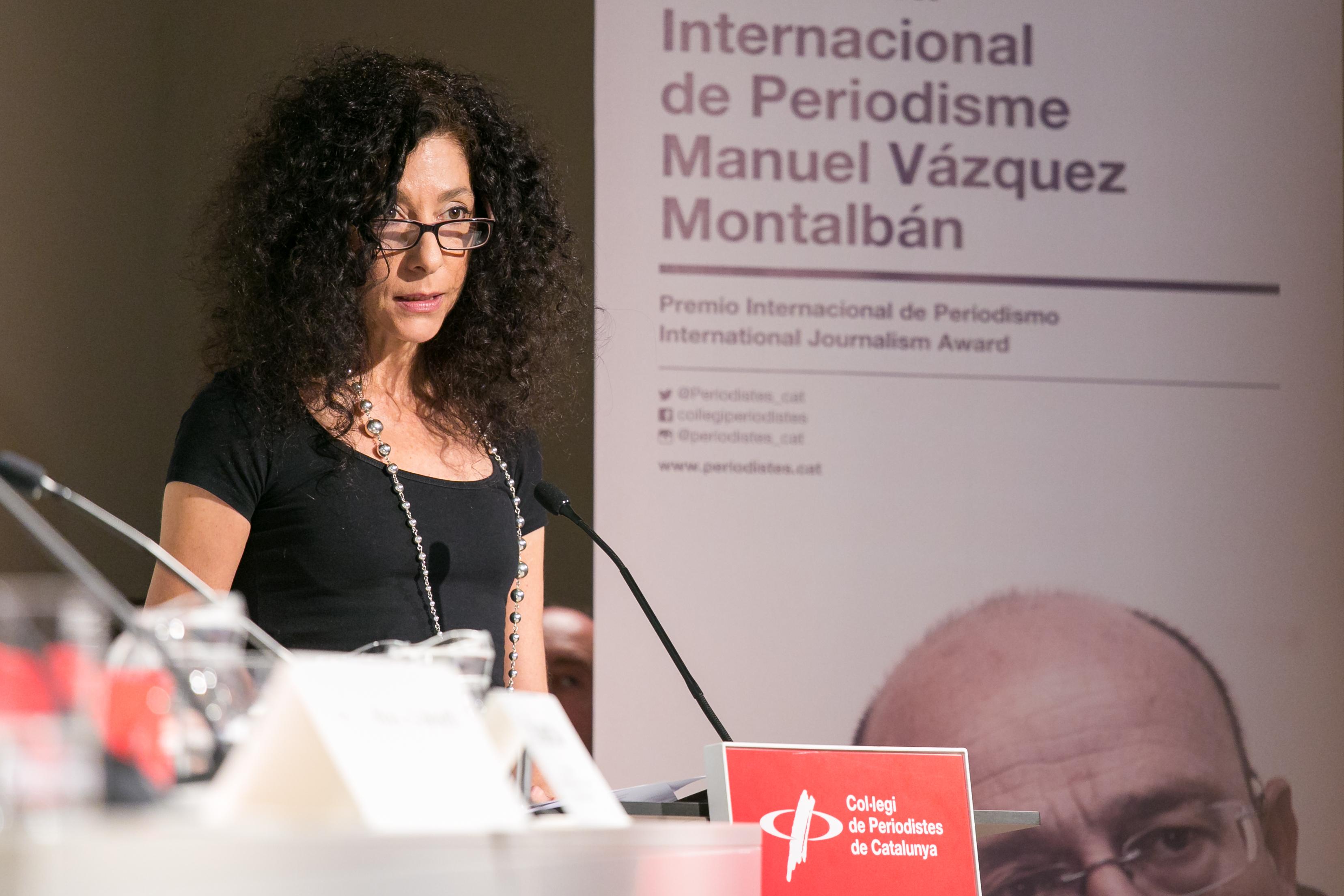 Leila Guerriero, premi Manuel Vazquez Montalban, al Col·Legi de Periodistes