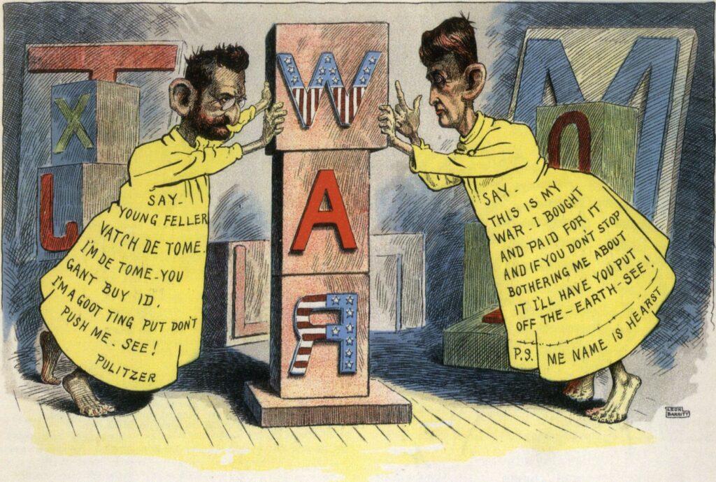 Caricatura sobre la guerra entre Pulitzer i Hearst, que va marcar una època